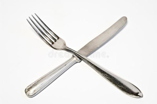 Crossed Fork And Knife Royalty Free Stock Image Image