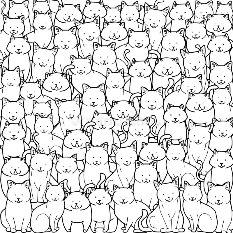 Background With Doodle Houses On Circle Composition Stock