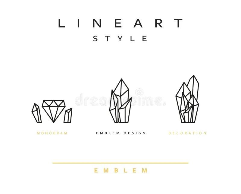 Set Of Geometric Crystals. Geometric Shapes. Trendy Design