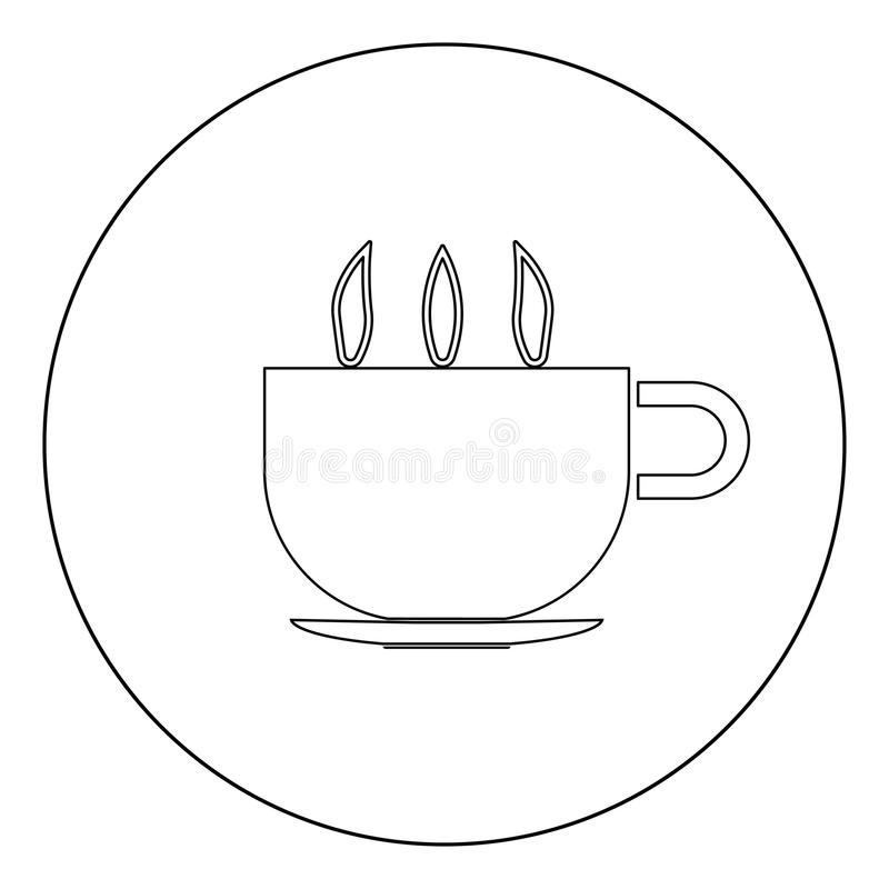 Cup With Hot Tea Or Coffee It Is Icon . Stock Vector