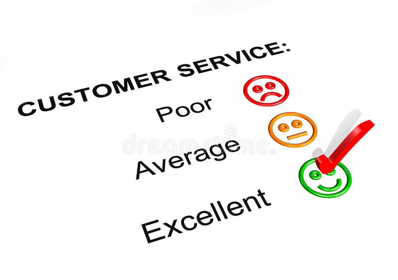 Customer Service Excellent Rating Stock Illustration