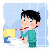 hygiene - cute kid brushing