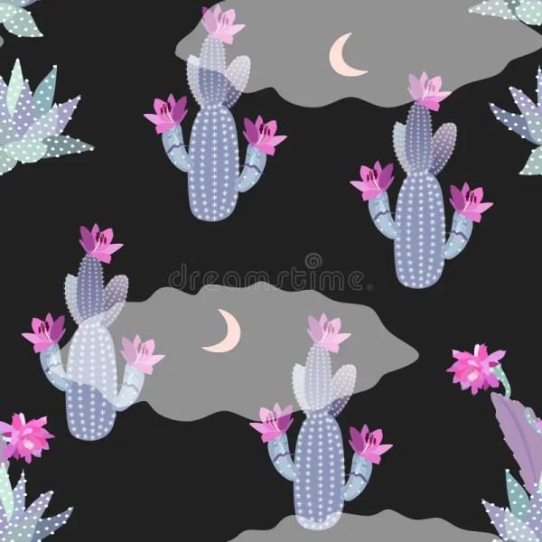 cartoon night desert landscape