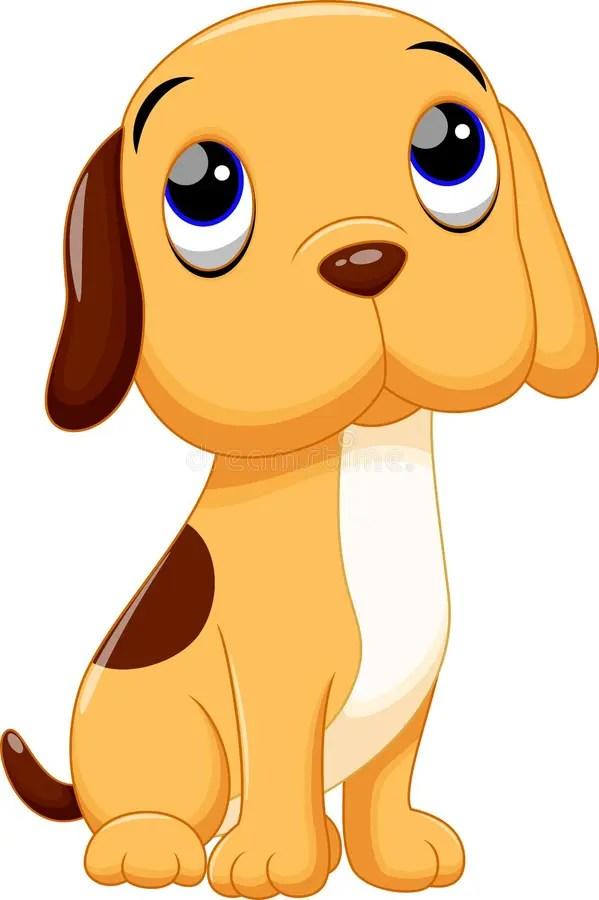 Cute dog cartoon stock illustration Illustration of happy