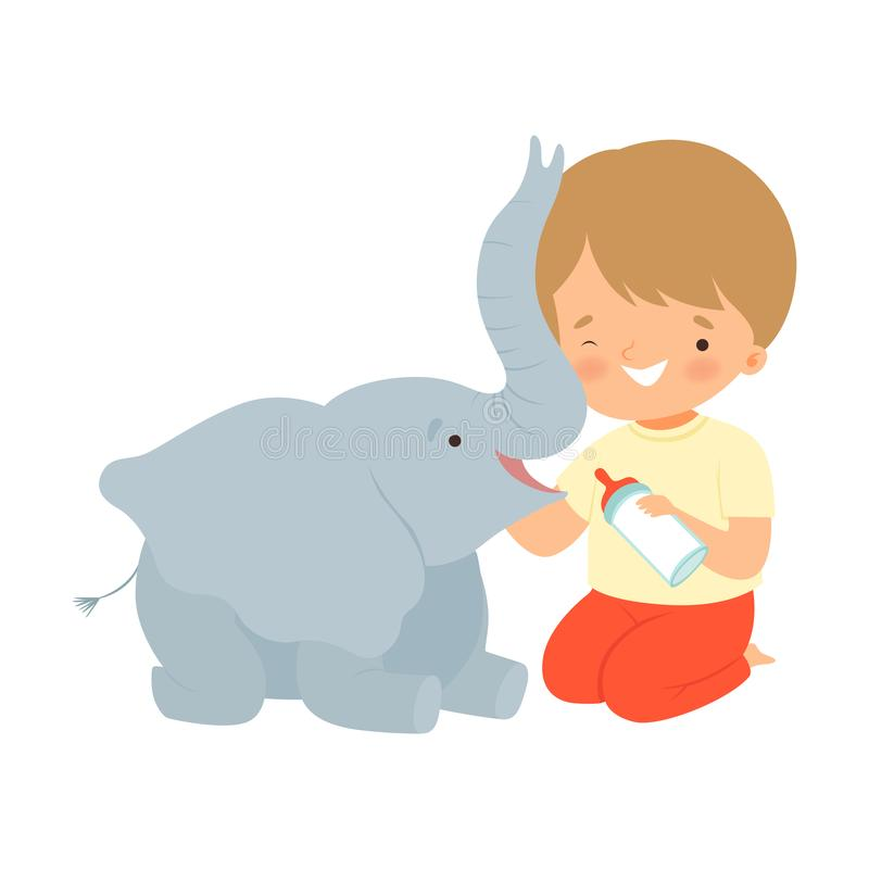Download Elephant for a baby boy stock vector. Illustration of ...
