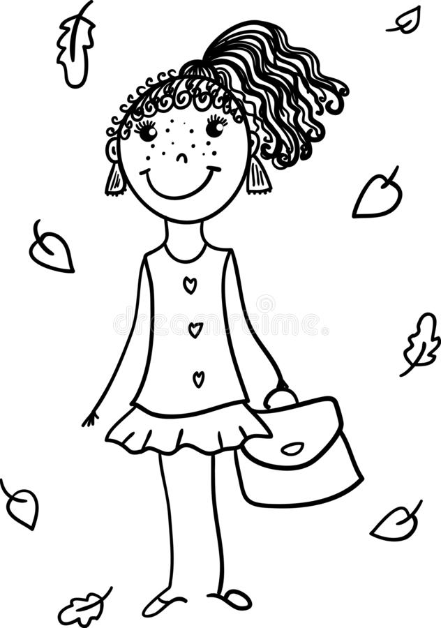Lady's shoes coloring page stock illustration