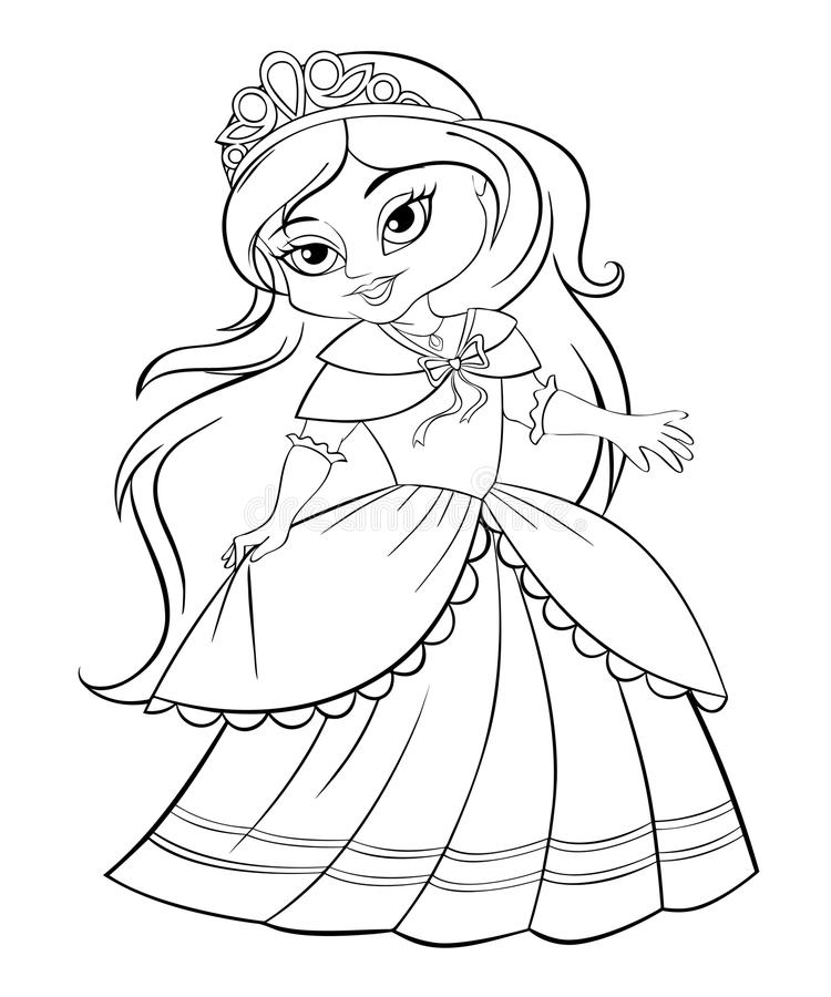Cute little princess stock vector. Illustration of anime