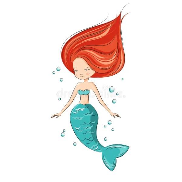 Cute Mermaid. Stock Vector. Illustration Of Greeting