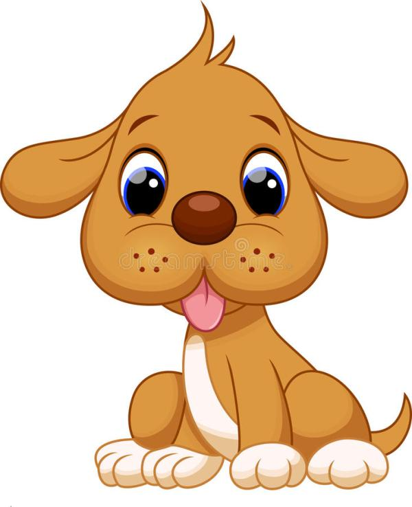 Cute puppy cartoon stock illustration Illustration of