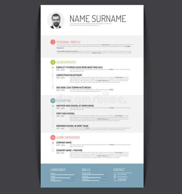 Cv Resume Template Stock Illustration - 50265956