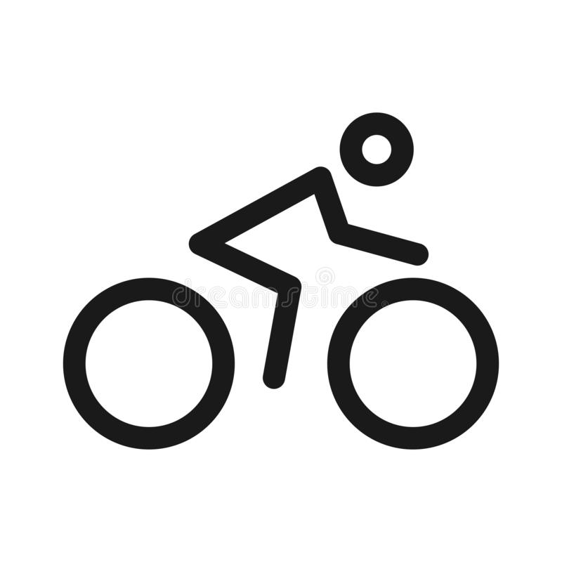 Vector Silhouette Of Road Cyclist Stock Vector