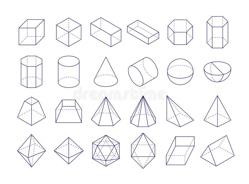 3D几何形状 向量例证. 插画 包括有 设计, 现代, 符号, 棱镜, 分级显示, 线路, 水晶, 多维数据集