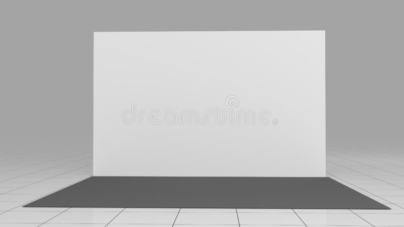 Looking for conference backdrop mockup psd free or illustration? 3d Render Press Wall 4x2 5 Meters Backdrop Mockup 3d Render Isolated On White Background High Resolution Template Stock Illustration Illustration Of Background Graphic 144683720