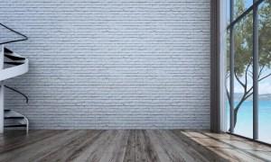 empty living wall background interior brick texture illustration