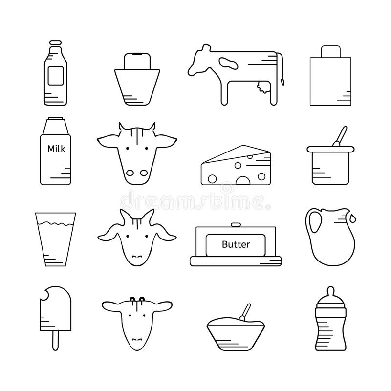 Milk Bucket And A Piece Of Cheese Stock Illustration