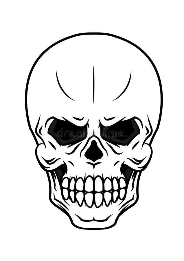 Butterfly Black Skull Vector Illustration Cartoon Vector