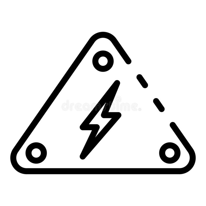 Danger Electric Tower Icon, Outline Style Stock Vector