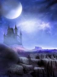 dark castle alien fantasy background night ominous illustration preview