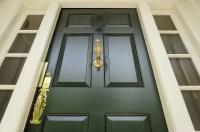 Dark Green Front Door stock image. Image of green ...
