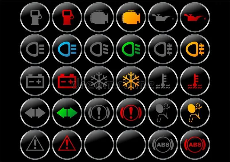 Dashboard Symbols Stock Vector Illustration Of Instrument