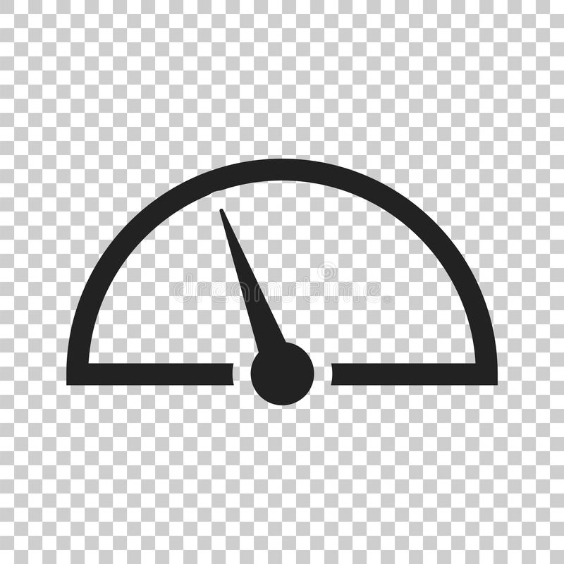Dashboard Vector Icon. Level Meter Speed Vector