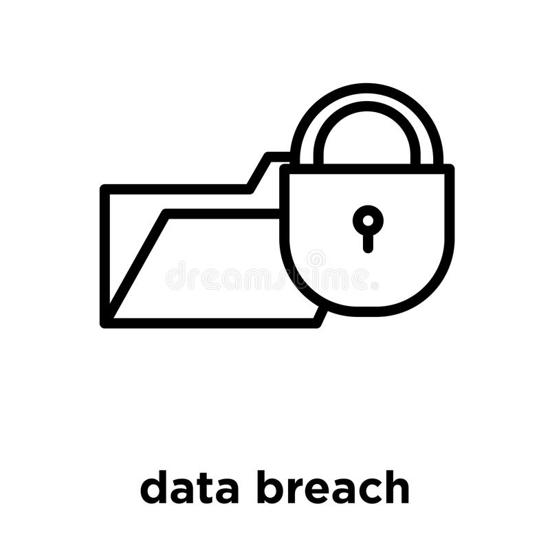 Data Breach Icon Isolated On White Background Stock