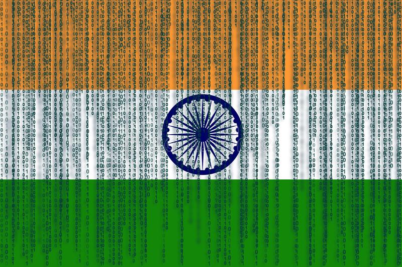 Data Protection India Flag. India Flag With Binary Code. Stock Illustration - Illustration of protection. technology: 101791501