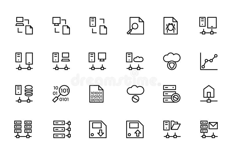 Database And Server Colored Vector Icons 5 Stock