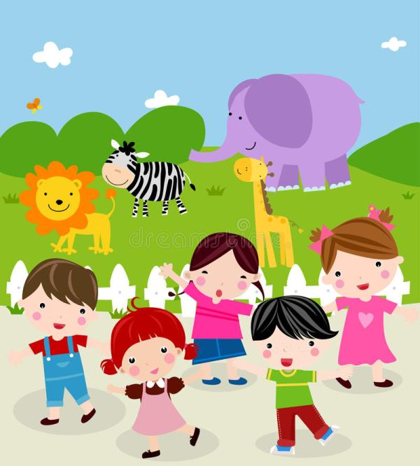 Day Zoo Stock Vector. Illustration Of Illustrations