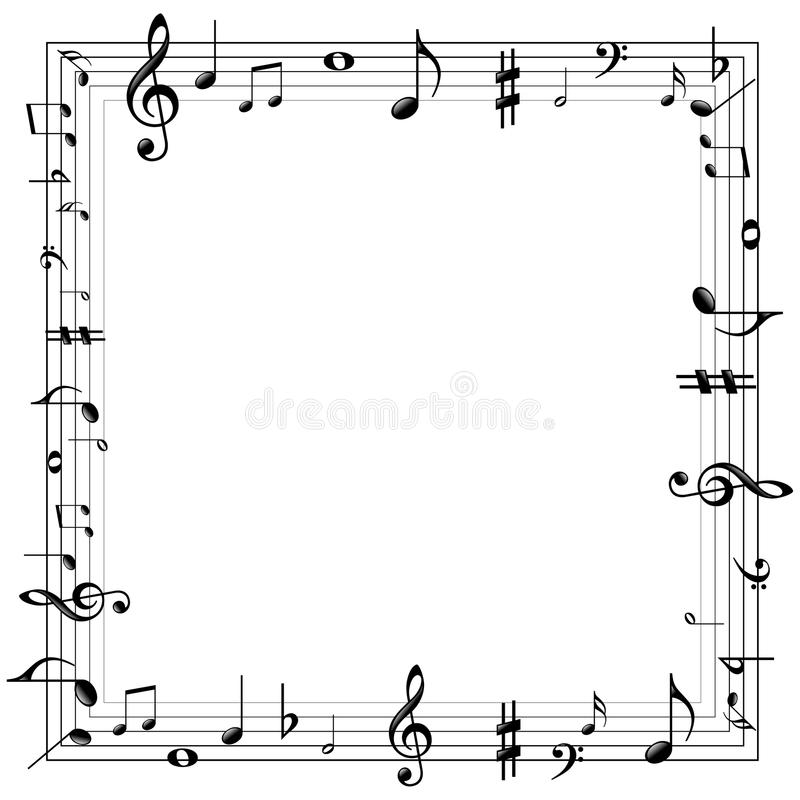 Musical Wallpaper Borders: Wallpaper Border With Al Notes