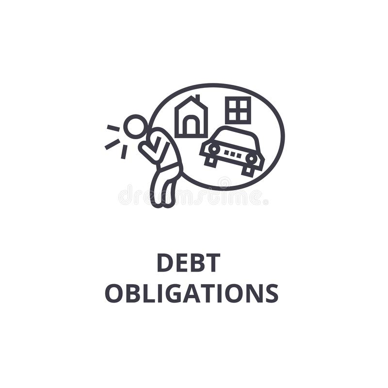 Financial Obligations Check Money Payments Bills Due Stock
