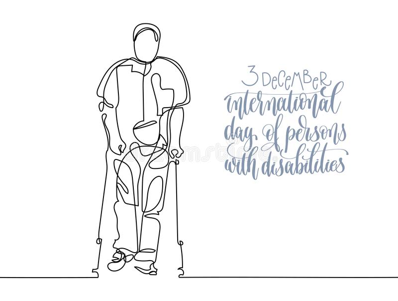 3 December World Disability Day Hand Lettering Typography