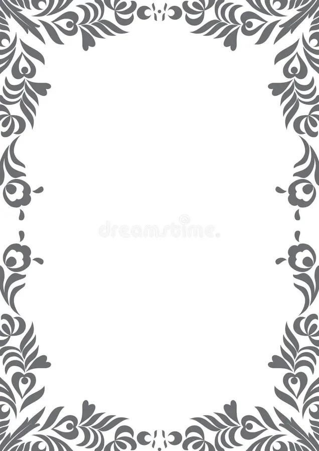 Decorative Black And White Border Stock Vector