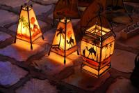 Decorative Tunisian lamps stock photo. Image of market ...