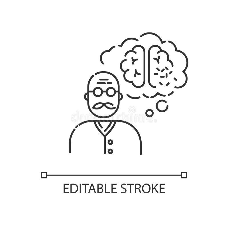 Dementia Elderly Stock Illustrations