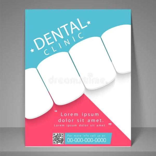 Dental Clinic Flyer Template Brochure. Stock