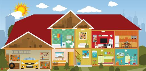 Dentro de la casa ilustración del vector Ilustración de casa 40827785