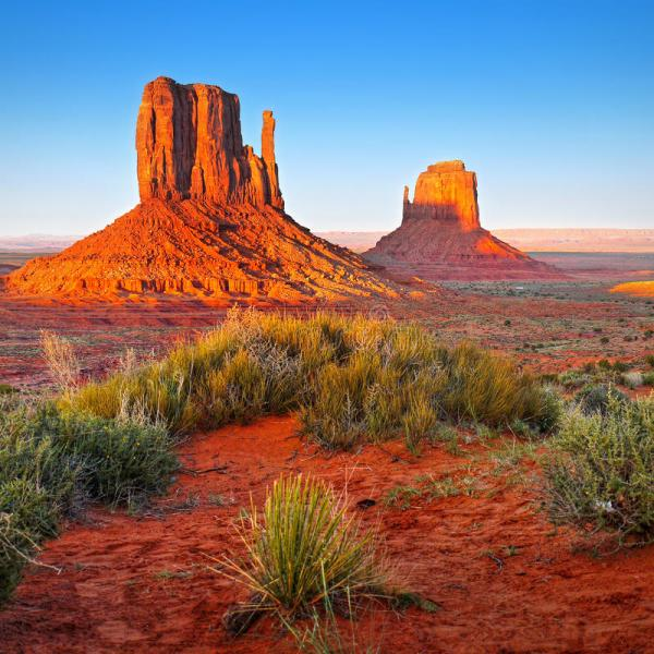 desert landscape in arizona monument