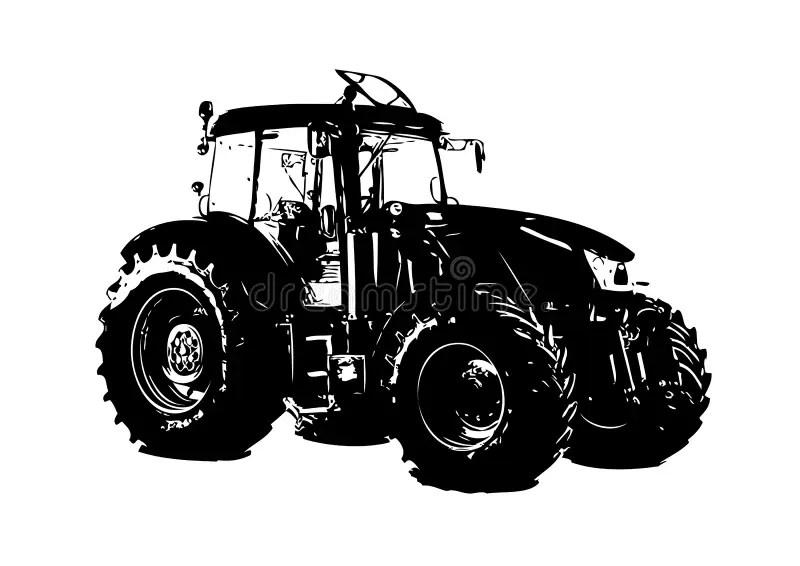 tracteur agricole illustration stock