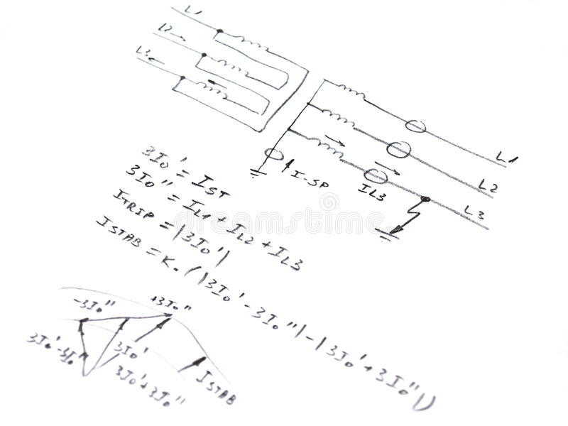 Diagram With Analysis Of Network Short Circuit Stock