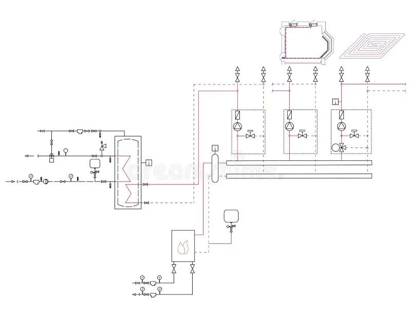 Heat pump diagram stock vector. Illustration of renewable