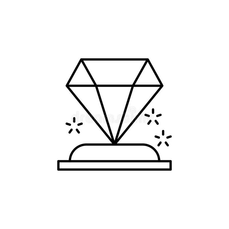 Achievement Award Diamond Jewel With Gold Ribbon Stock