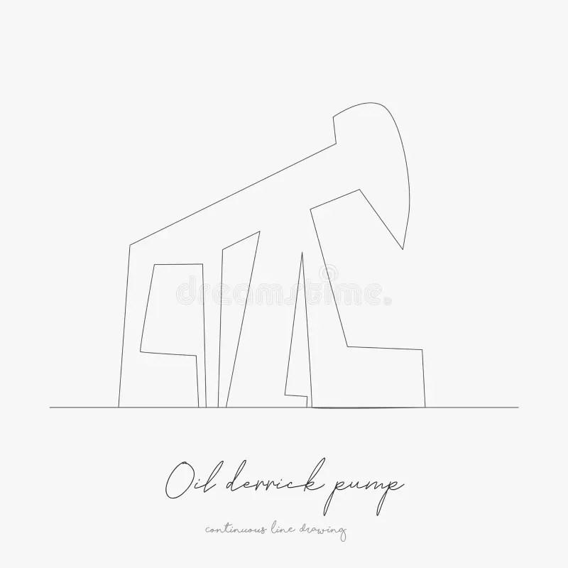 Petróleo-torre De Perforación Stock de ilustración