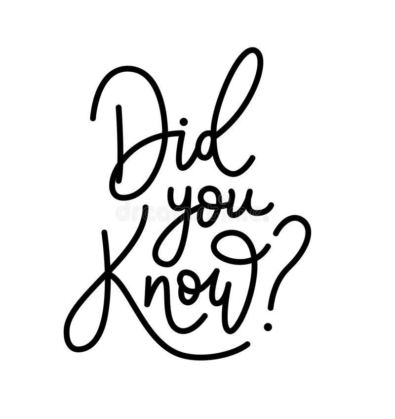 Did You Know. Hand Brush Lettering Text. Vector