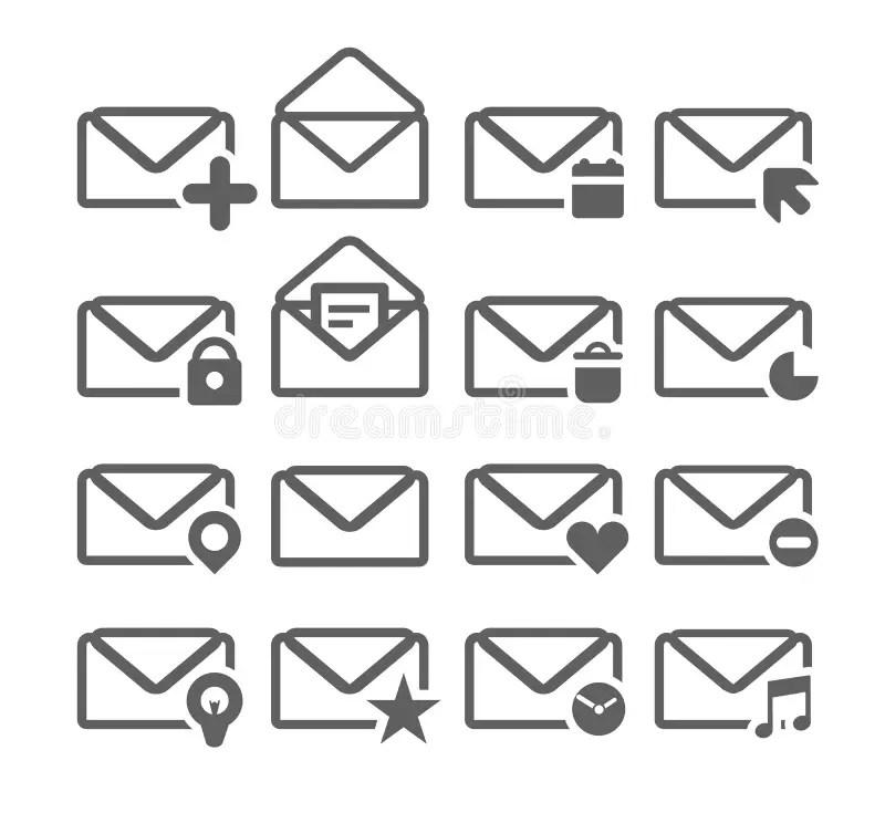 Open white envelope stock illustration. Illustration of
