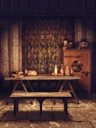Fantasy Medieval Dining Room