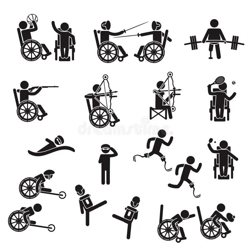Handicap sports stock vector. Illustration of injury