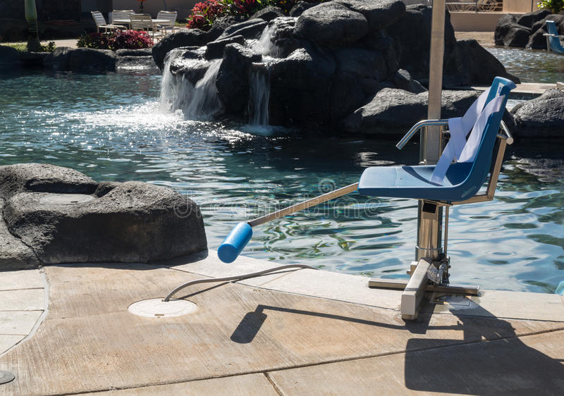 Disabled Person Chair Swimming Pool Stock Photos  Image