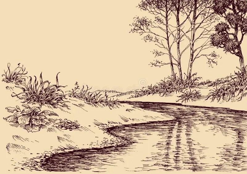 Disegno del paesaggio illustrazione vettoriale Illustrazione di dissipato  91281554