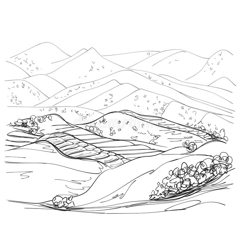 Disegno Di Un Paesaggio RJ33  Regardsdefemmes